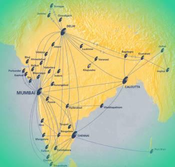 Посмотреть в какие города индии
